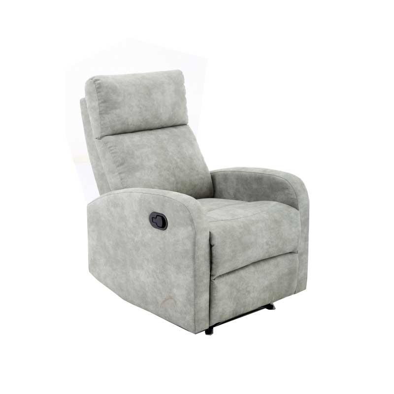 Sillón relax tejido color gris