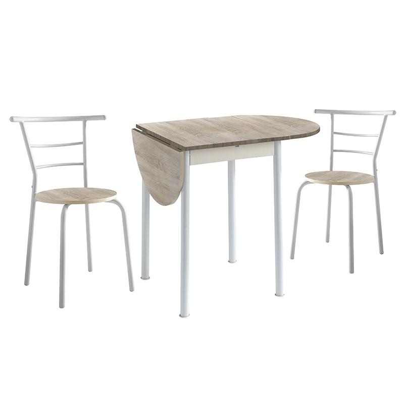 Conjunto mesa abatible y 2 sillas a juego
