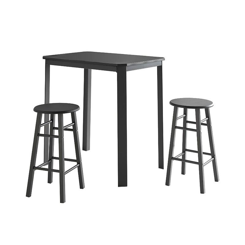 Conjunto mesa con taburetes en color gris grafito