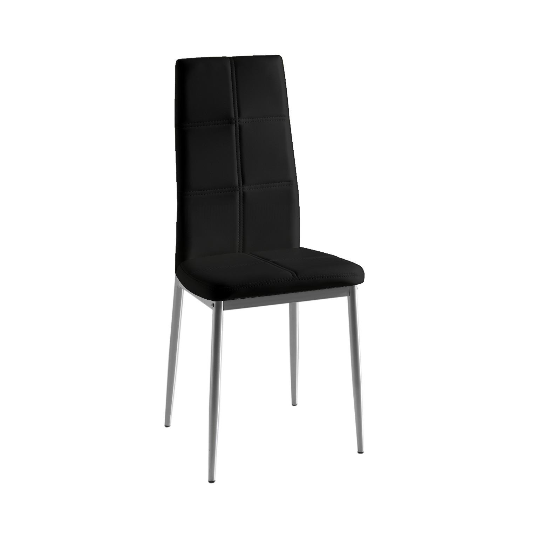Pack 4 sillas estructura metálica color gris