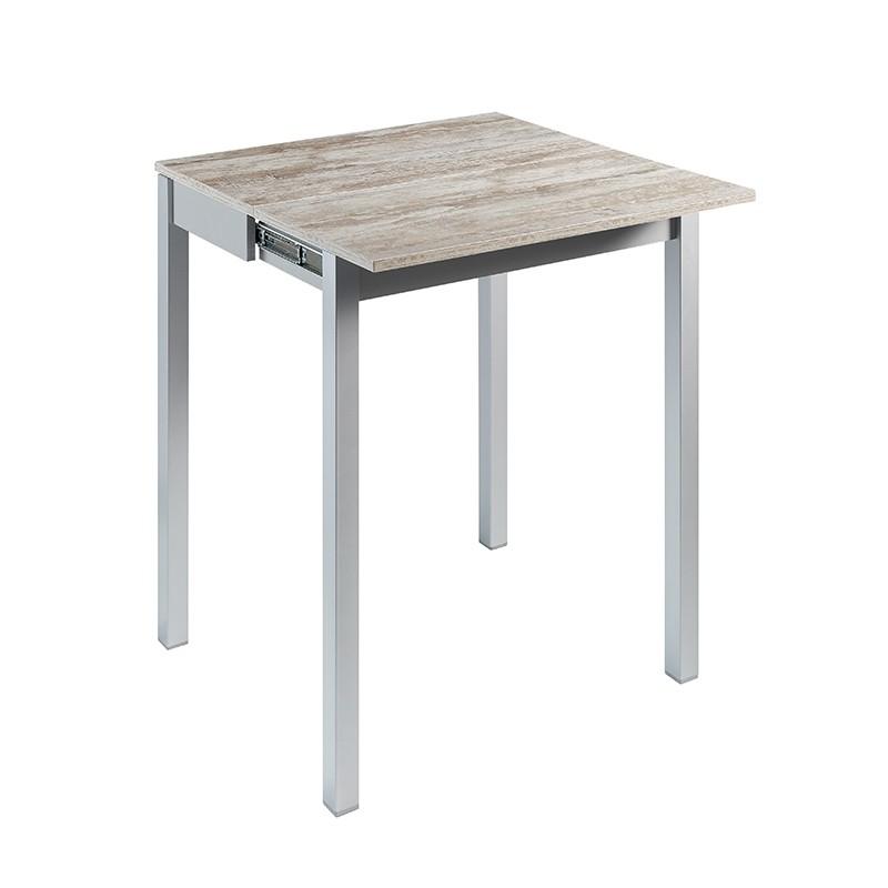 Mesa Alfaro 95H cm sobre laminado color jade gris o beige a elegir