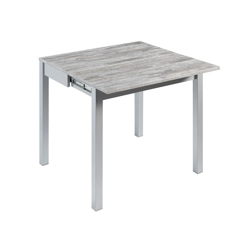 Mesa Alfaro 76H cm sobre laminado color gris Jade