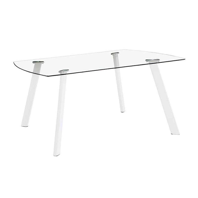 Mesa en cristal templado transparente o negro a elegir