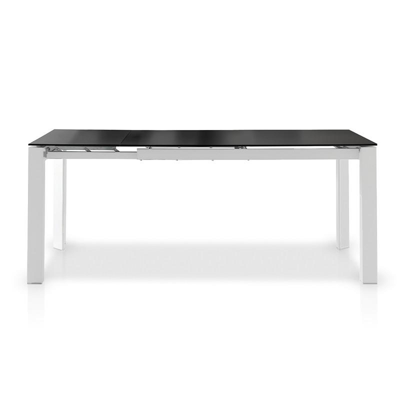 Mesa de comedor extensible cristal negro