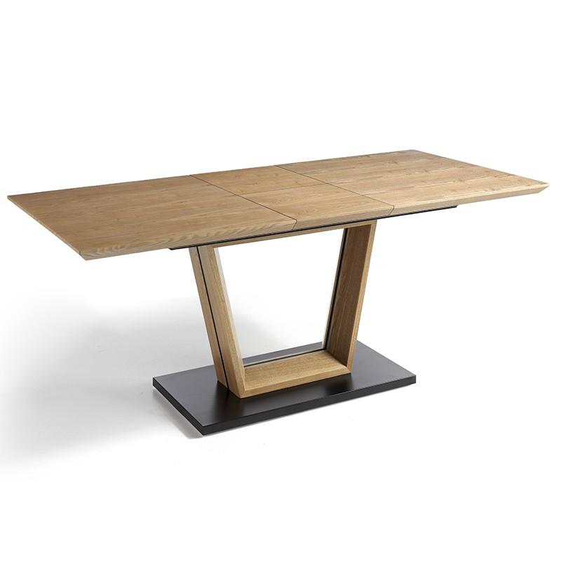 Mesa de salón extensible base en color negro