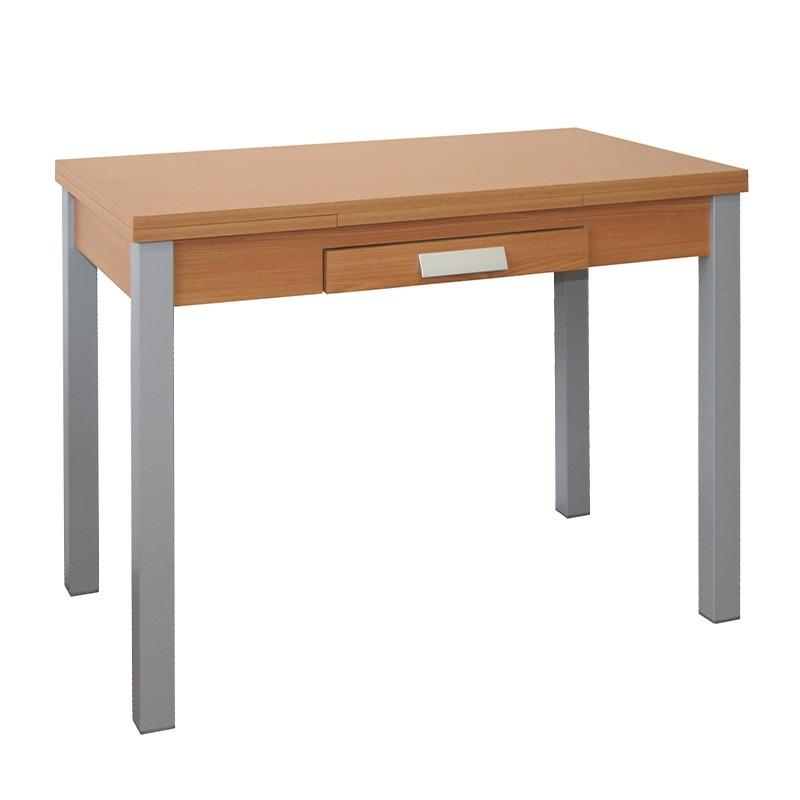 Mesa extensible en madera de distintos colores