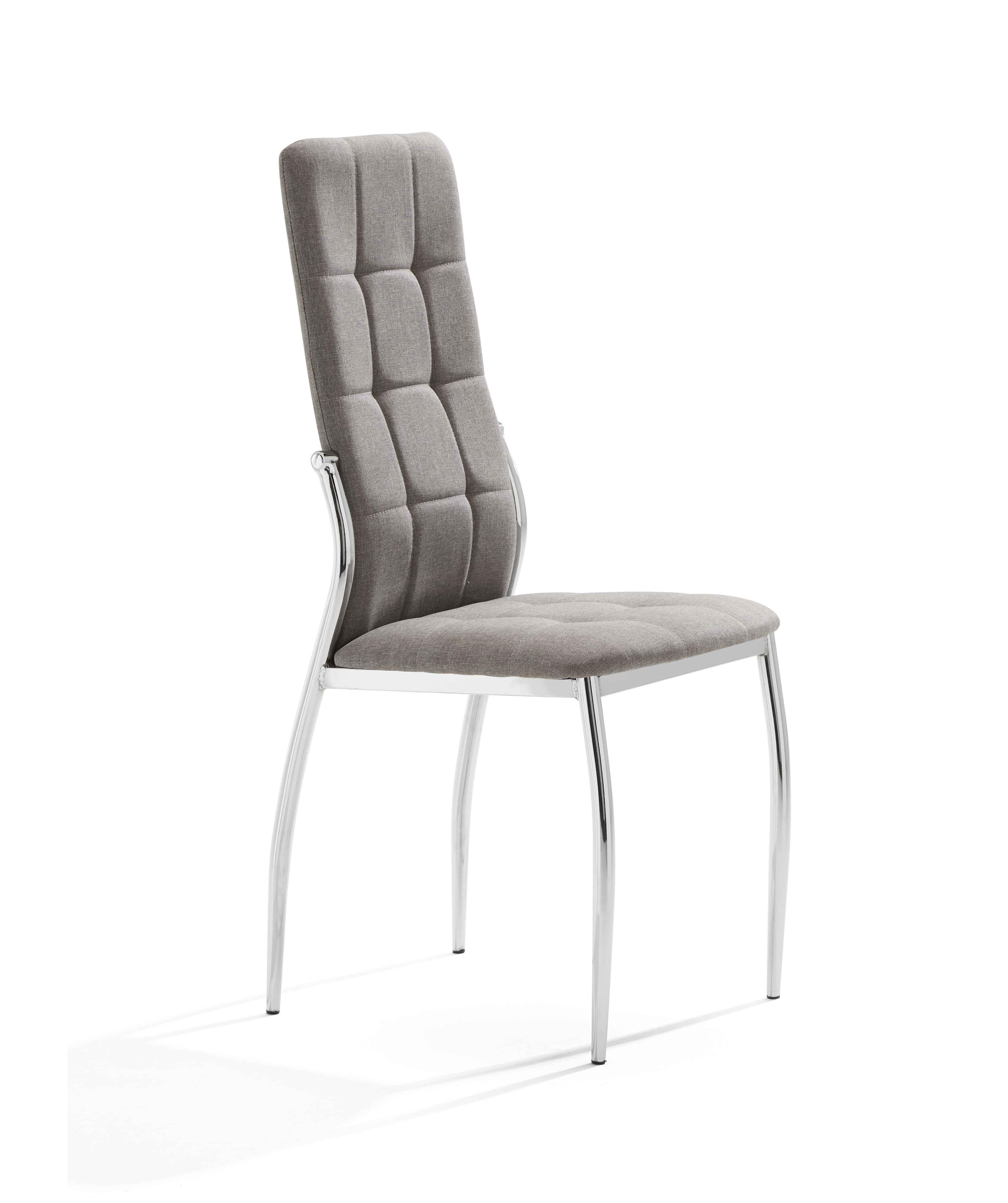 Pack 4 sillas en tela color gris claro mod. Cami