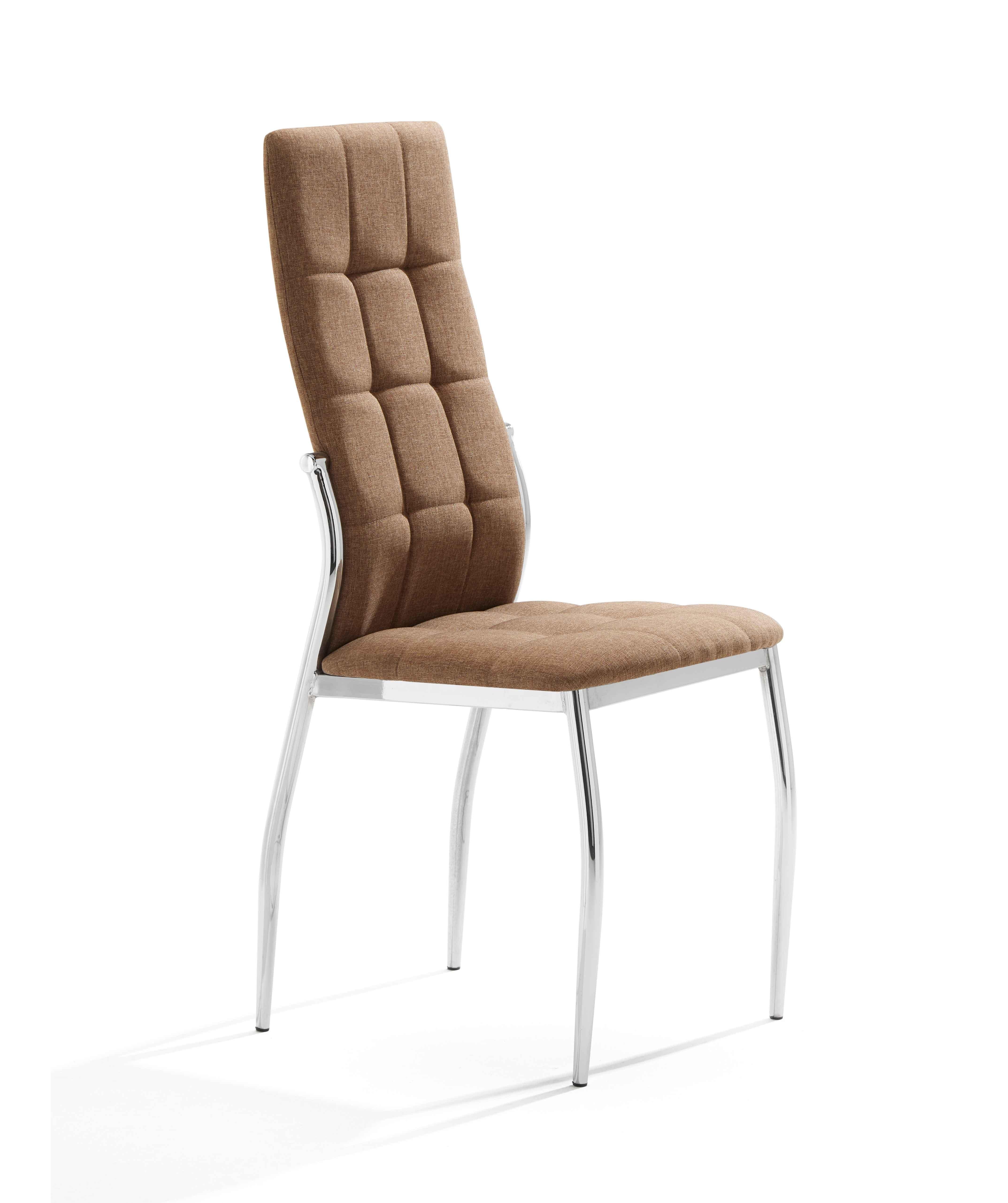 Pack 4 sillas en tela color marrón mod. Cami