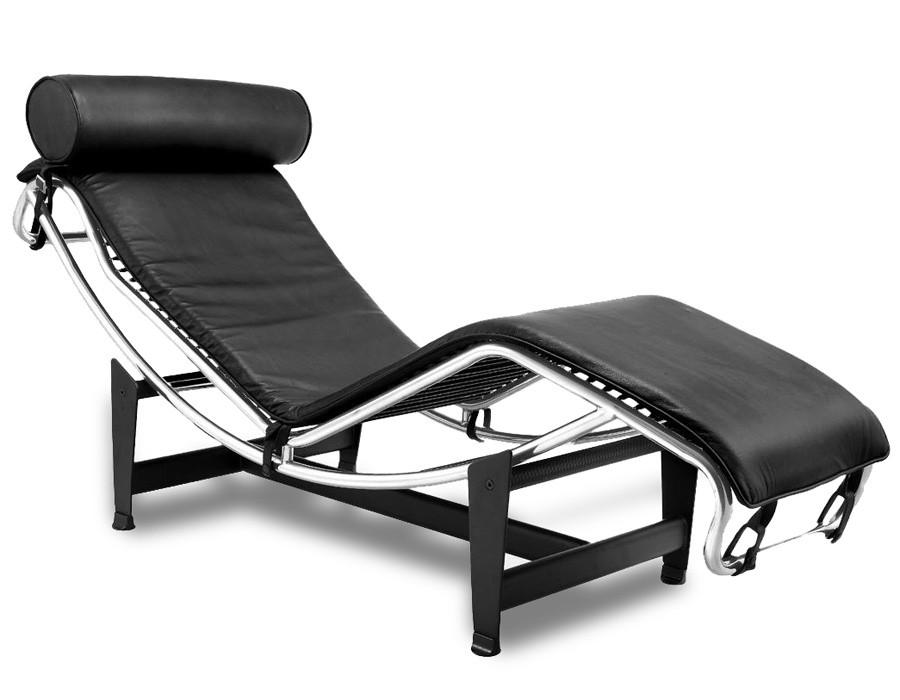 Sillón de relax reclinable en piel negra