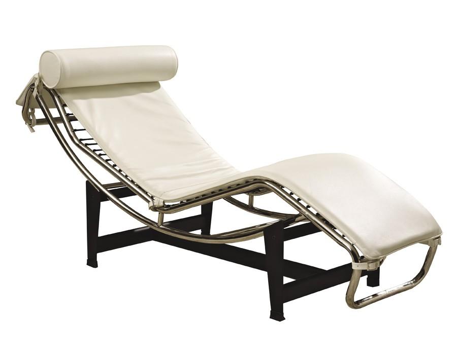 Sillón de relax reclinable en piel blanca