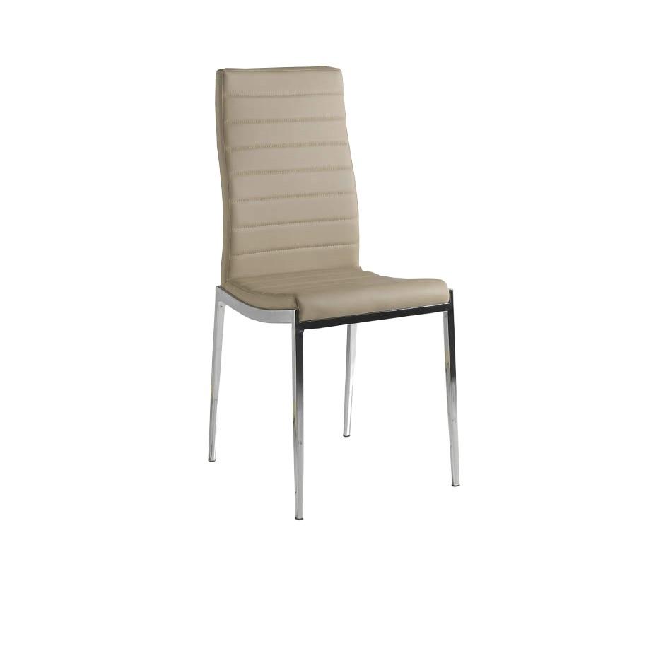 Pack 4 sillas polipiel color capuchino