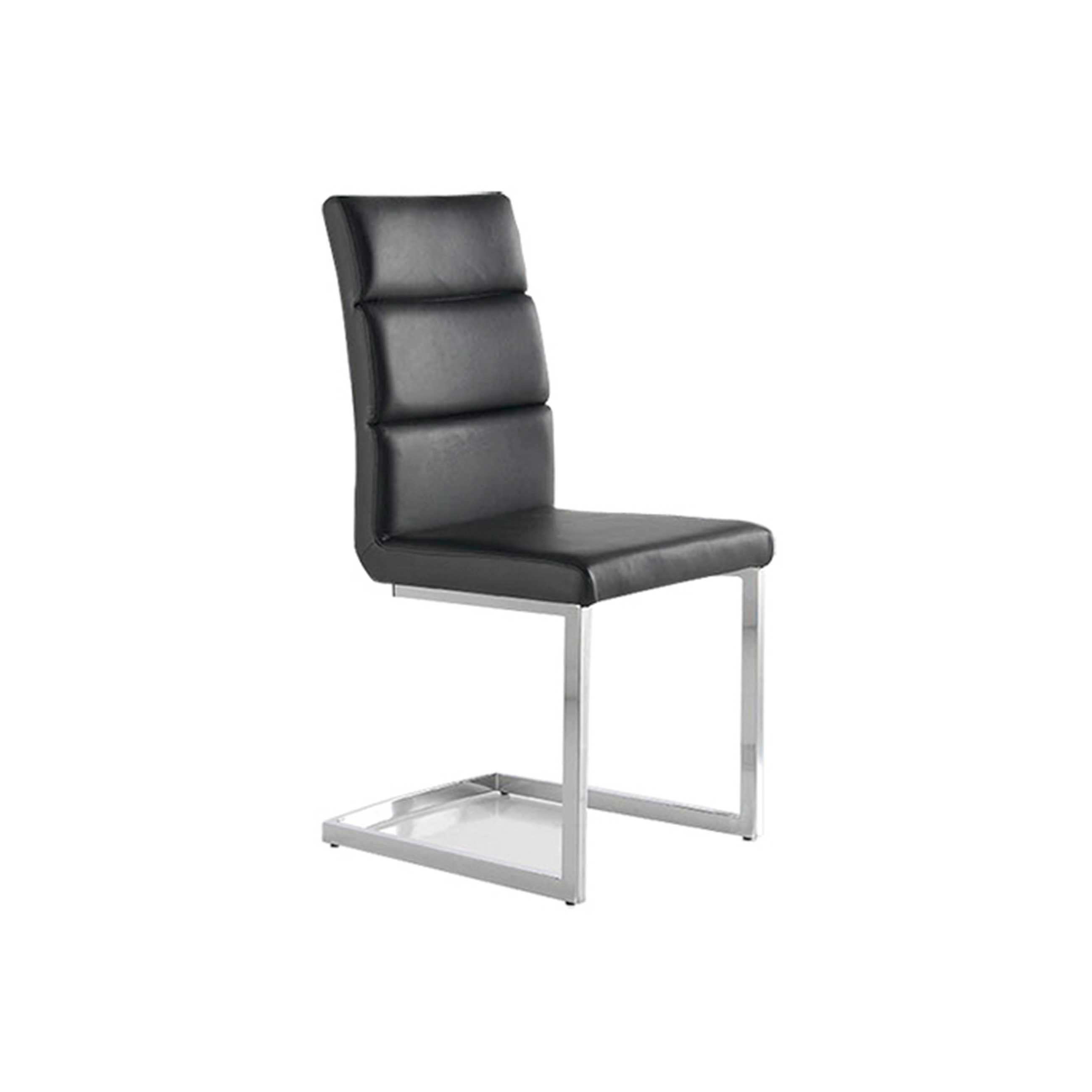 Pack 4 sillas polipiel color negro mod. Milo