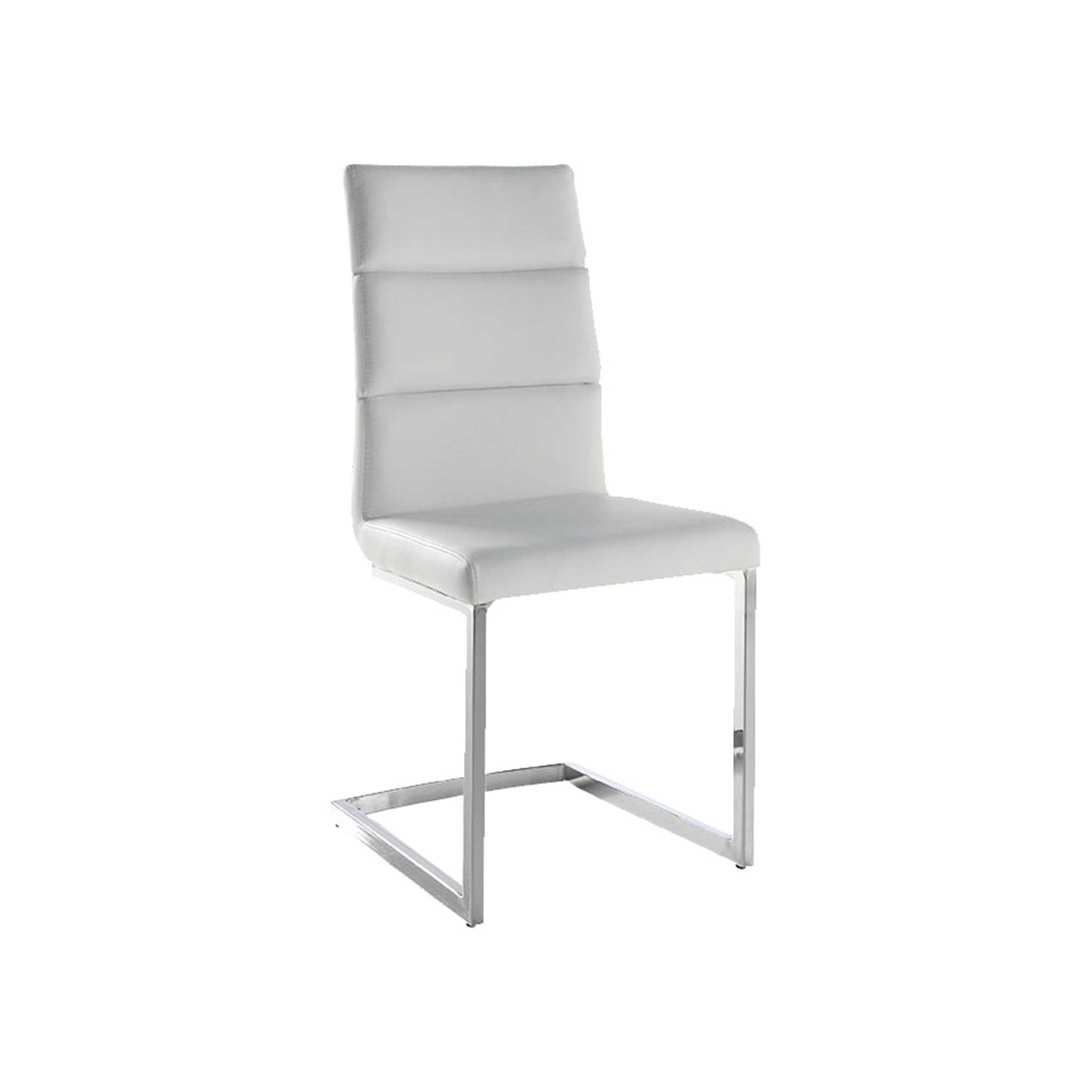Pack 4 sillas polipiel color blanco mod. Milo