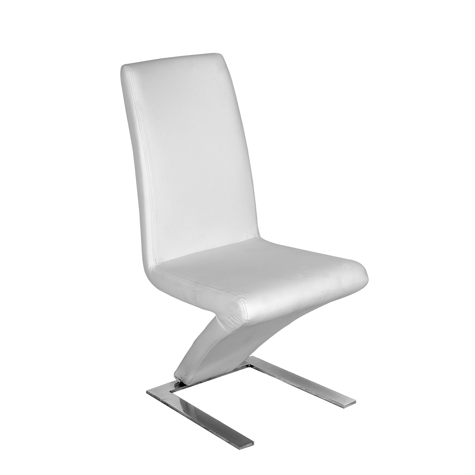 Pack 2 sillas polipiel en blanco mod. Silva