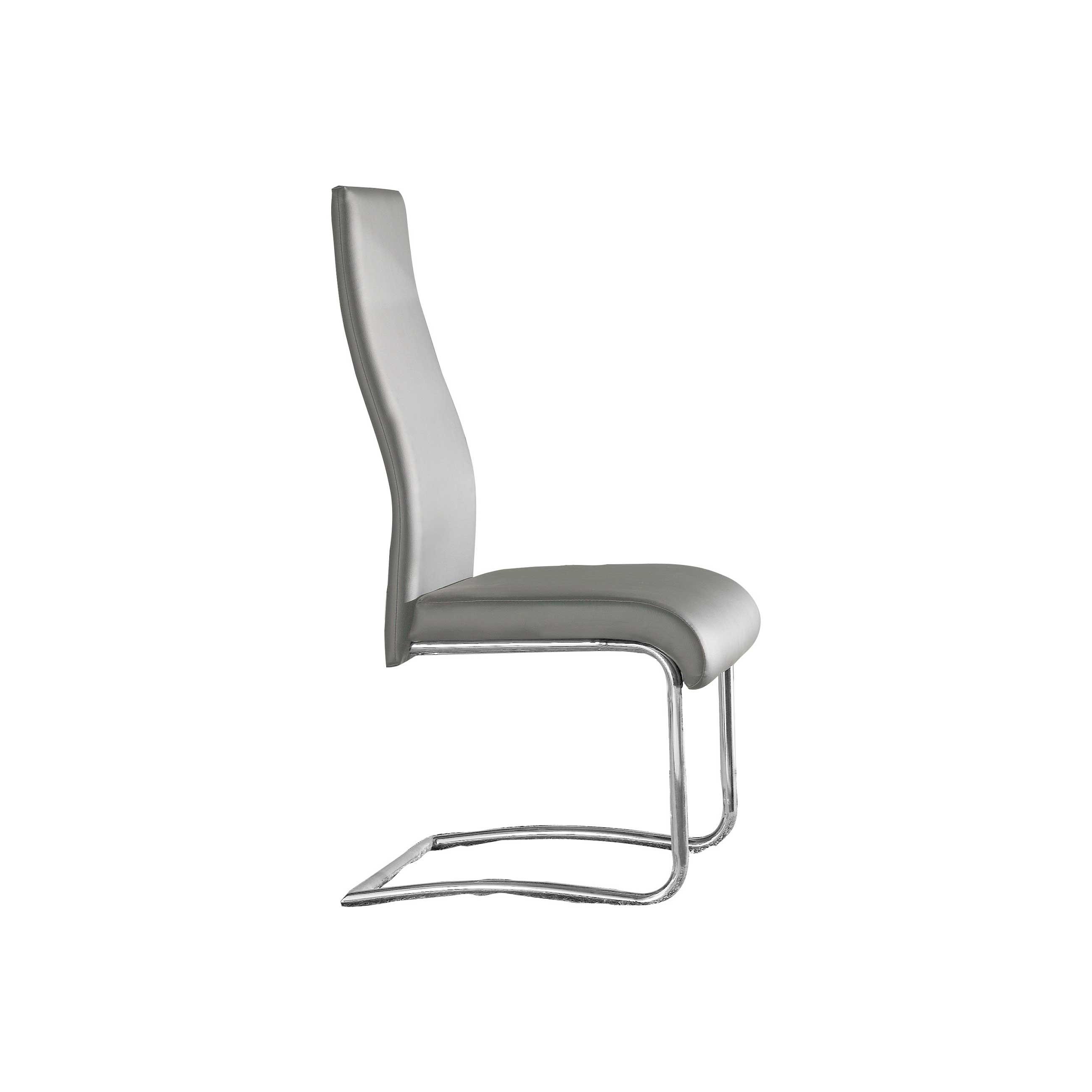 Pack 4 sillas polipiel color gris