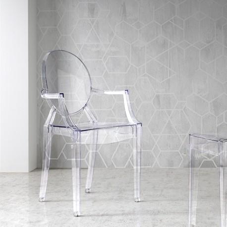 Pack 4 sillas de diseño transparente