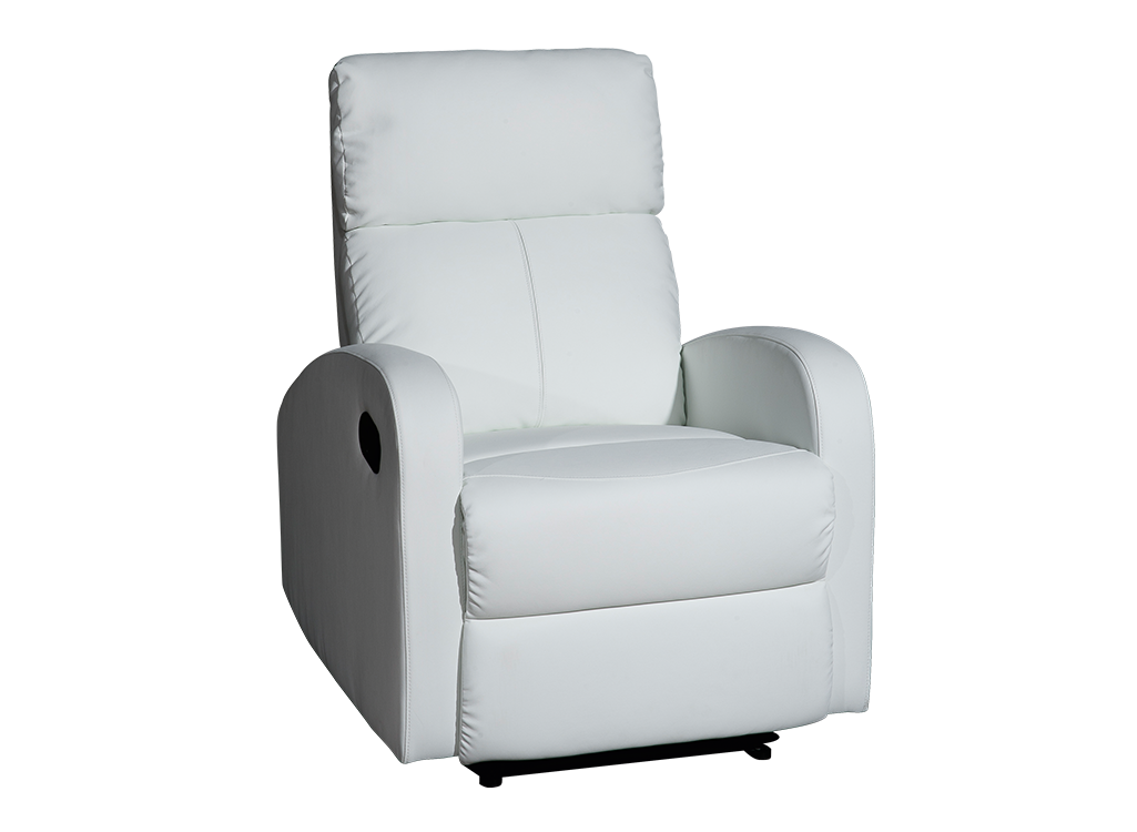 Sillón relax polipiel blanca