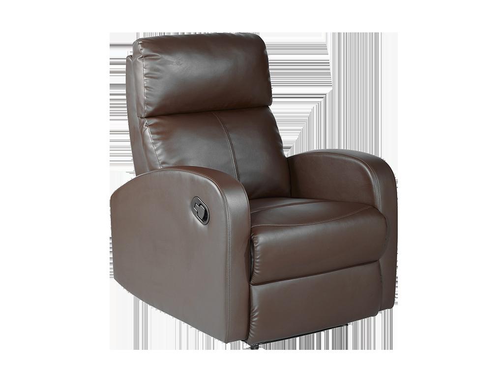 Sillón relax polipiel marrón