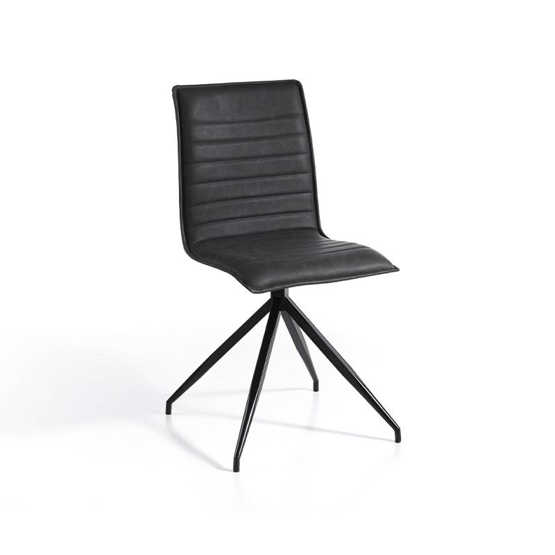 Pack 2 sillas en ecopiel color gris