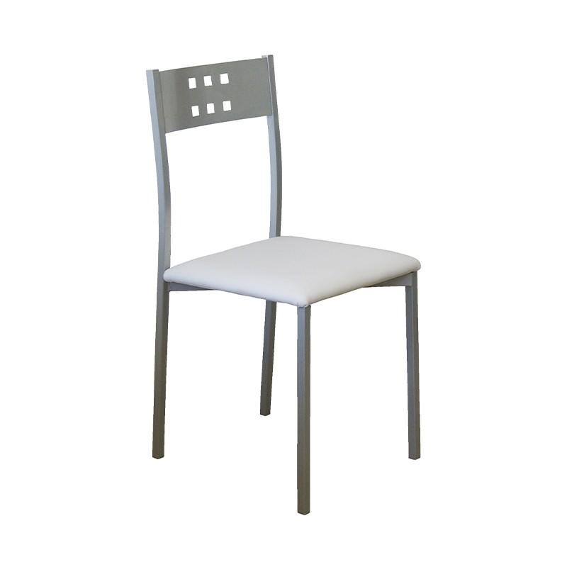 Pack 4 sillas estructura metálica y tapizado a elegir color
