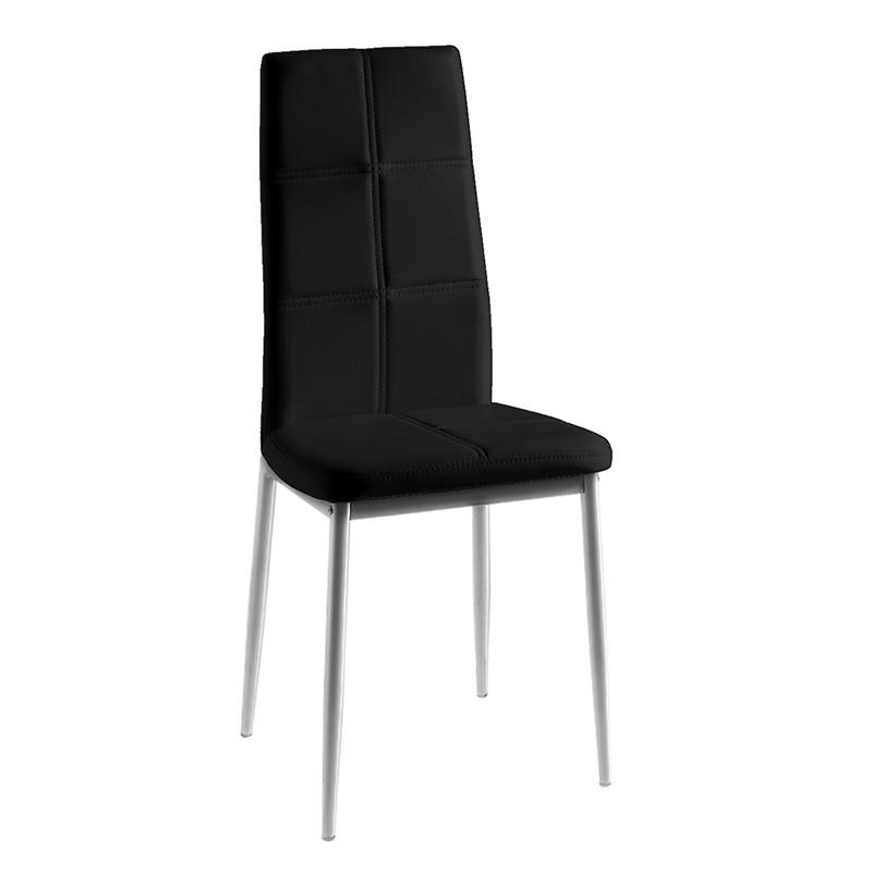Pack 4 sillas estructura metálica cromada