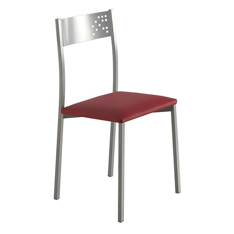 Pack 4 sillas estructura metálica y tapizado a elegir
