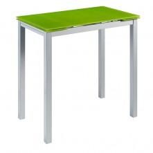 Mesa alta extensible en cristal a elegir color