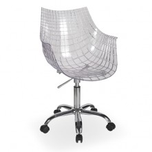 Pack 2 sillas de oficina transparente