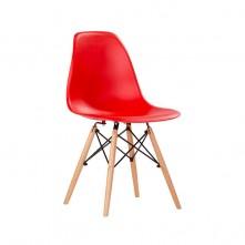 Pack 4 sillas de diseño color rojo
