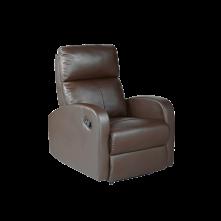 Sillón relax polipiel marrón mod. Tavira-m