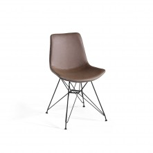 Pack 2 sillas de comedor en marrón