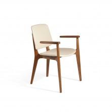 Pack 2 sillas de comedor en madera Nogal