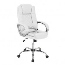 Silla de oficina en polipiel de color blanco