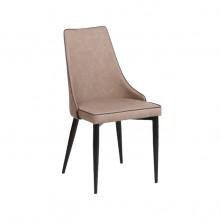 Pack 2 sillas polipiel beige y bordón marrón